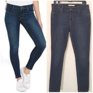 Levi's 710 Super Skinny Dark Wash Jeans